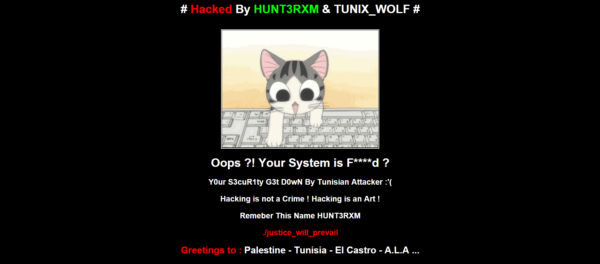Hacked By HUNT3RXM & TUNIX_WOLF