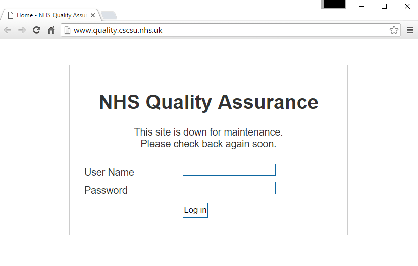 NHS Quality Assurance Hacked