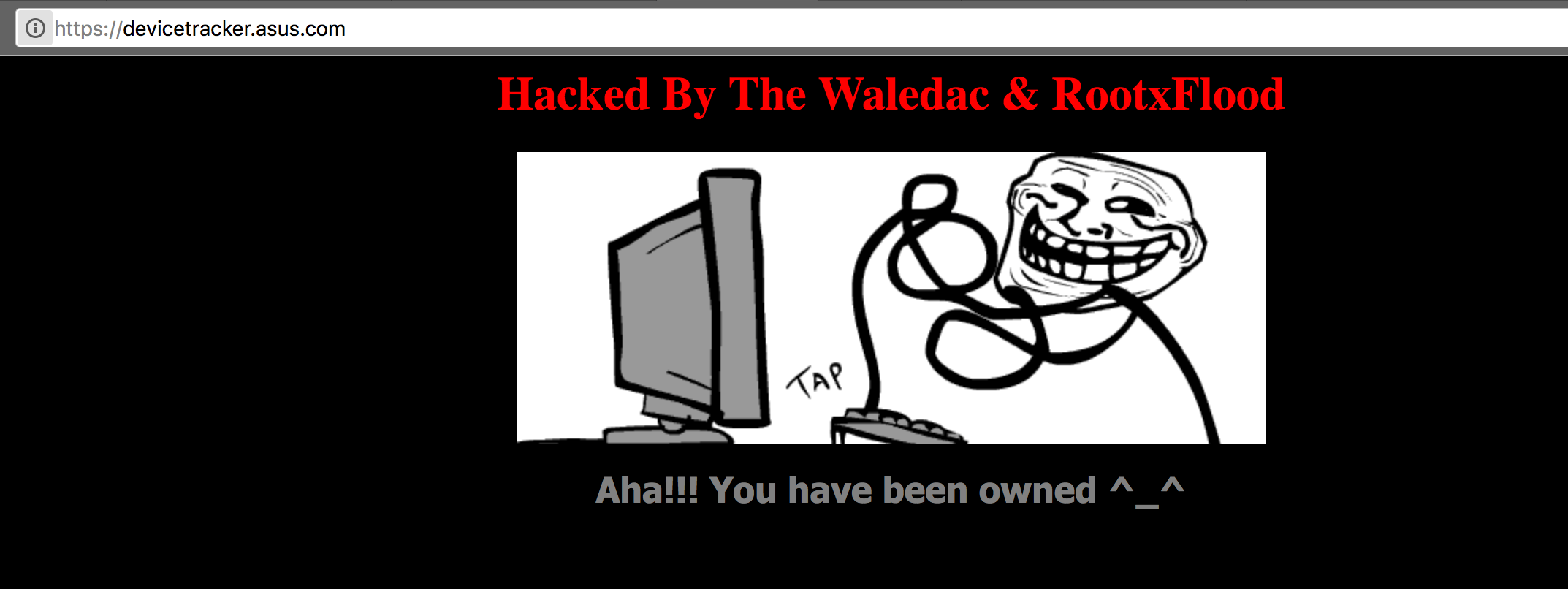 Asus Device Tracker Hacked