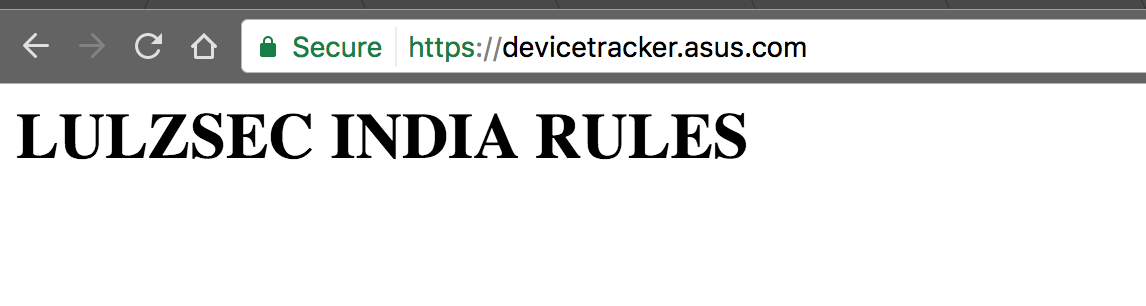 Asus Device Tracker Re-Defaced