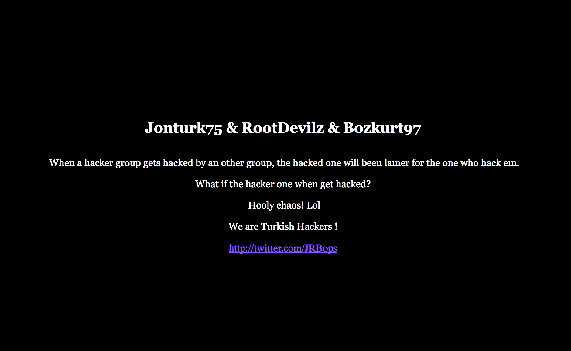 "WikiLeaks Website Hackers ""OurMine"" Official Website Get's Hacked By Turkish Hackers"