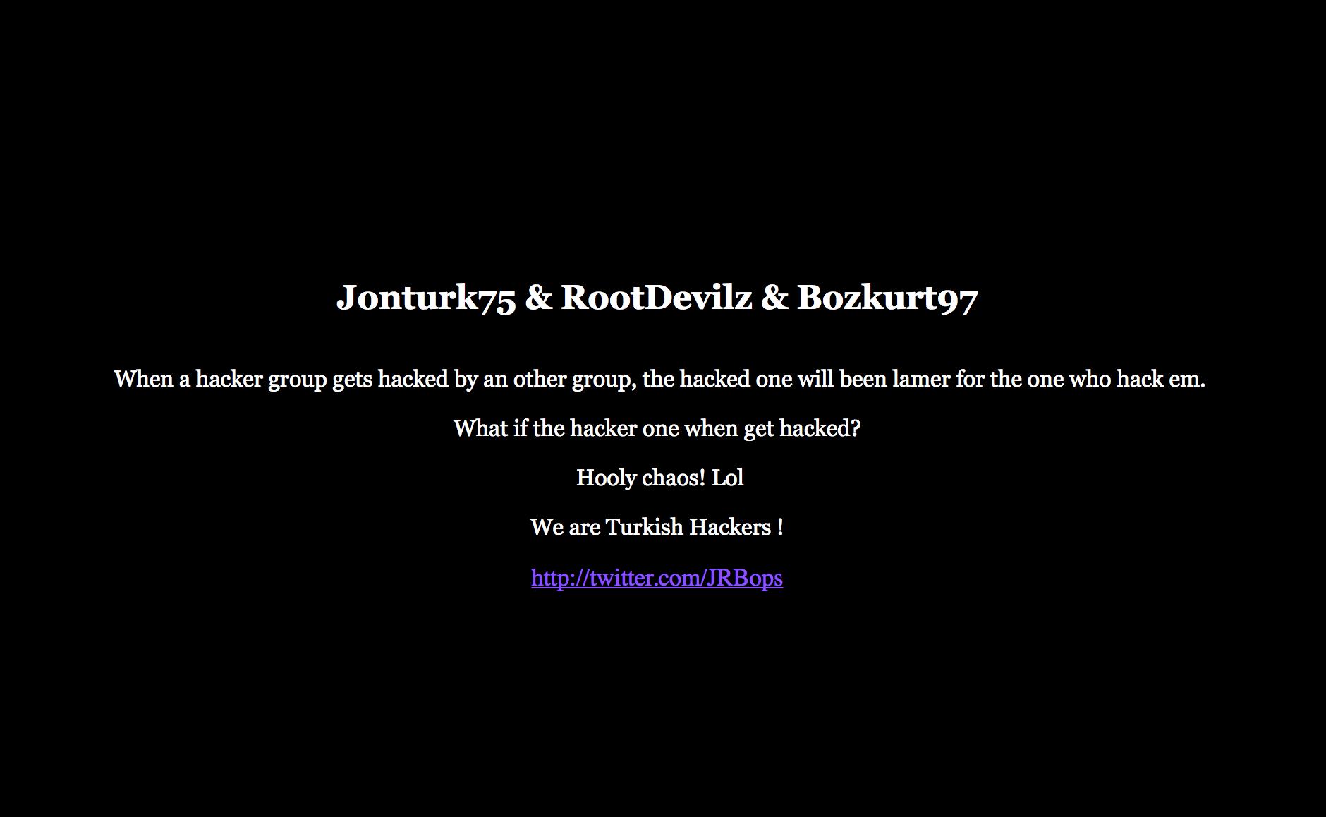 "WikiLeaks Website Hackers ""OurMine"" Official Website Gets Hacked By Turkish Hackers"