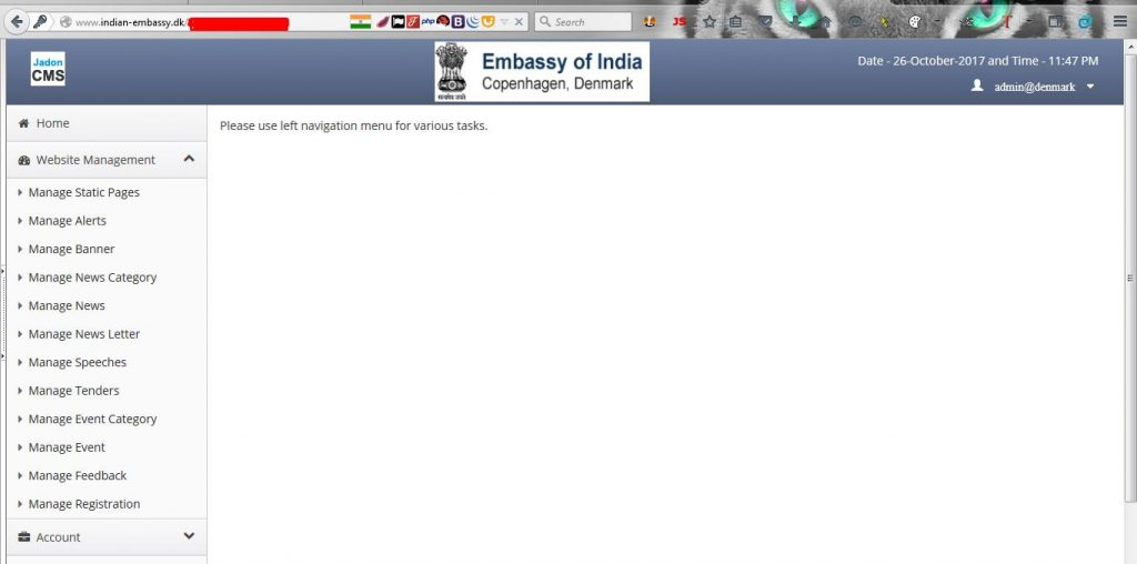 Indian Embassy Denmark Hacked
