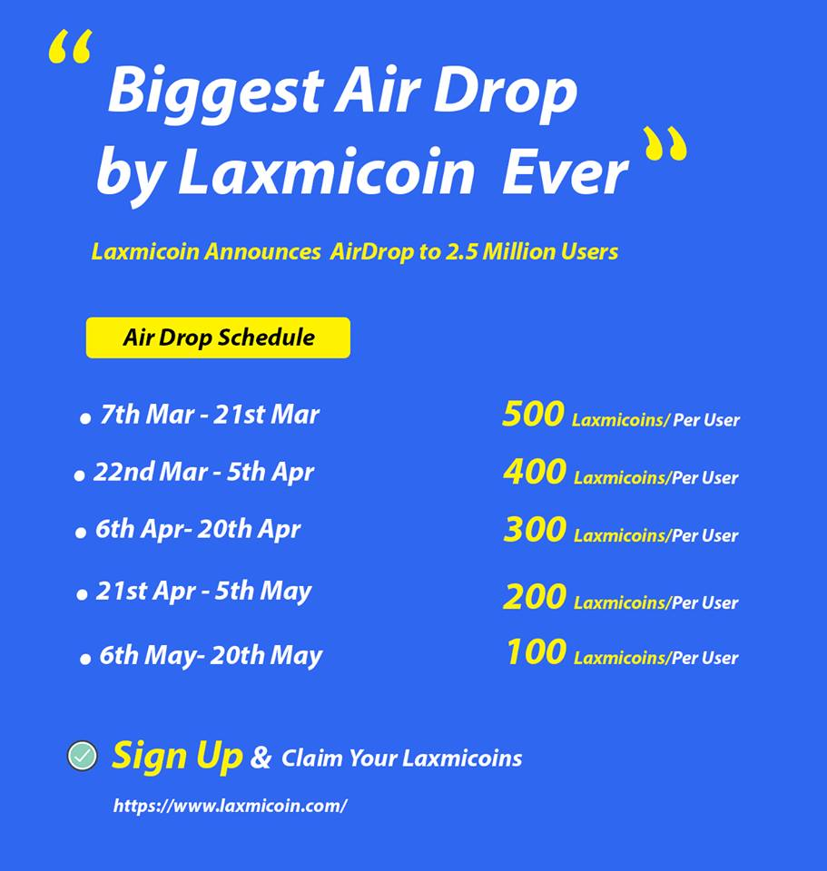 airdrop schedule