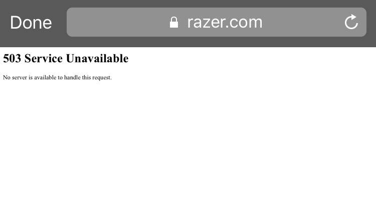 Razer down due to DDOS attack