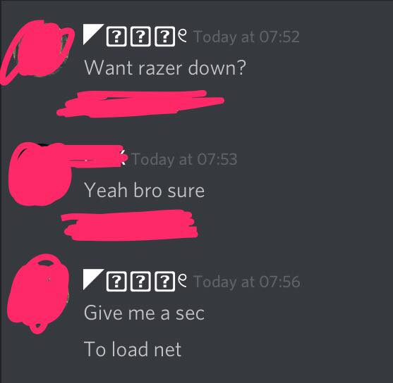 Russian hackers talking about Razer DDOS