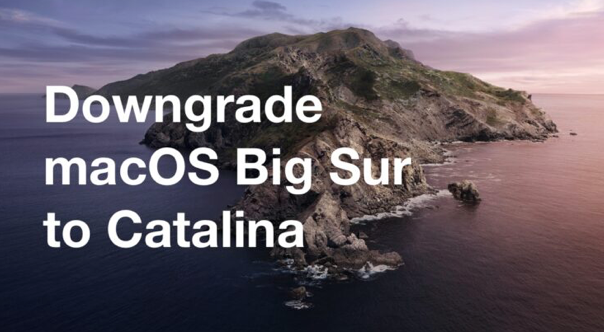 Downgrade Your Mac From Big Sur